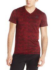 New Adidas Mens Running Training Performance Team Base Issue Ss Tshirt Red Sz Xl
