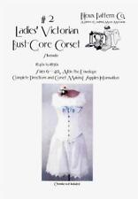 Ladies Victorian Bust-Core Corset Bijoux Laughing Moon Pattern #2 Size 6-40