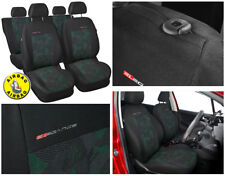 Car seat covers full set fit Volkswagen New Beetle charcoal grey / green