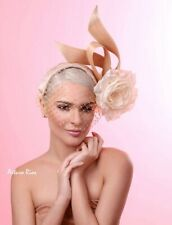 Gold champagne Fascinator, Kentucky Derby hat for women's, Hand made in USA