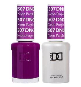 DND Daisy Duo Gel W/ matching nail polish lacquer - NEON PURPLE - 507