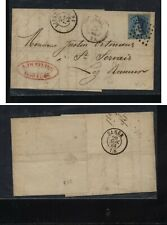 Belgium  early  cover  1865    MS1121