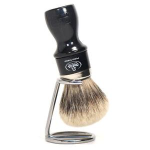 Shaving Brush with Bracket Silvertip Badger Hair Omega Italy Size XL Plastic