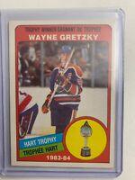 1984-85 O-Pee-Chee 1983-84 Hart Trophy Winner #374 Wayne Gretzky Edmonton Oilers