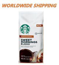 Starbucks Sweet Mornings Blend Medium Roast Coffee 12 Oz WORLDWIDE SHIPPING