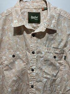 Howler Brothers Short Sleeve Geometric Print Button Up Shirt Men's Size 2XL