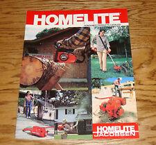 Original 1982 Homelite Jacobsen Consumer Products Catalog Sales Brochure 82