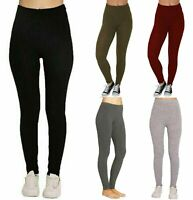 Mesdames plaine chaud épais Chunky Câble Côtelé en Tricot Legging Femmes Extensible Pantalon