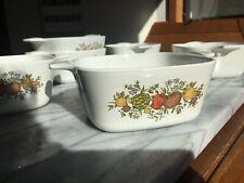 "Vintage ""Spice of Life"" Corning casseroles 6 piece set"