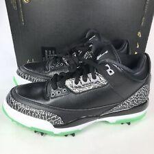 6b2d31f1f532f3 Nike Jordan 3 Retro Golf Black Green Glow AJ3783-001 Men s Size 8 New