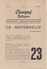 BB53-CINEGUF BOLOGNA-MATTINATE CINEMATOGRAFICHE-LA MARTERNELLE-