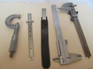 vintage craftsman 40161 DJ vernier caliper  Made West Germany plus assortment
