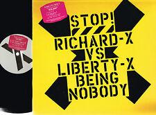 """RICHARD X vs LIBERTY X Being Nobody 12"""" VINYL Virgin UK RXT1 N/Mint @Chaka Khan"""