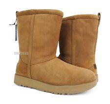 UGG Classic Short Waterproof Chestnut Suede Fur Boots Womens Size 8 *NIB*