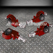 ADJUSTABLE FRONT CAMBER ADJUSTER KIT 90-97 HONDA ACCORD/CIVIC/92-96 PRELUDE RED