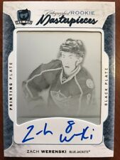 16-17 UD The Cup Rookie Auto Masterpieces 1/1 Zach Werenski Printing Plate