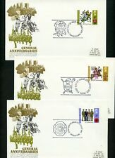 LOT 65177  UK ISSUED 1971 GENERAL ANNIVERSARY SET OF 3  FDC COVERS GREAT BRITAIN