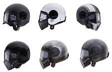 Caberg Freeride Rusty Matt Black and Brown Patina Motorcycle Open Face Helmet