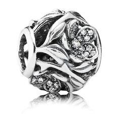 Original PANDORA Silber Element 791419CZ Charm Mystisches Blumenreich-Pavè