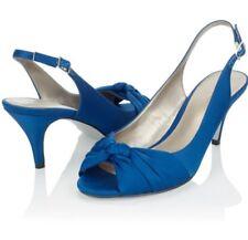 Jacques Vert Knot Slingback Shoe Blue Size EU 38 RRP £99