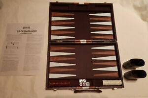 Backgammon Spiel im Koffer Top Qualität Pan Toys