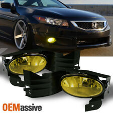 2008-2010 Accord 2Dr Coupe Bumper Yellow Fog Lights W/Switch set Left+right 2009