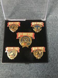 NASCAR Hat Pin Lot 50th Anniversary Commemorative Set Collectors Item