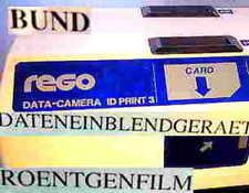 REGO DATA CAMERA ID 3 DATENEINBLENDGERÄT RÖNTGEN X-RAY FILM AUFBELICHTUNGSKAMERA