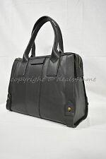 NWT! Fossil Leather Gwen Satchel Handbag in Black MSRP $248
