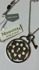 Beautiful  Italian NOMINATION Designer Pendant on LONG Chain. Brand New in Box.