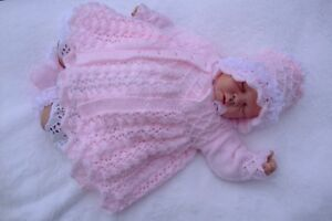 PRINTED PAPER KNITTING PATTERN TO MAKE *WINTER JASMINE* FOR BABY OR REBORN DOLLS