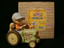 Precious Moments-Boy Riding Tractor-Dear Jon I Will Never Leave You-John Deere