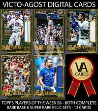 Topps Bunt Players of the Week Series 8 BOTH COMPLETE SETS - 12 Cards [BUNT APP]