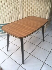 70/60's  Small Laminated Coffee Table With Dansette Legs