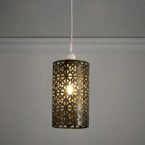 Moroccan Tunis Brass-Effect Pendant Light Shade