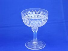 DORFLINGER HOB DIAMOND CRYSTAL (1852-1921) CHAMPAGNE SHERBET GLASS 4 1/2 INCH