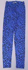 Pieces Women's Animal Print Elastic Waist Legging ML3 Victoria Blue Small NWT