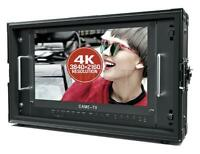 """CAME-TV 15.6"""" 12G-SDI 4K Broadcast Director Monitor with 12G-SDI, HDMI, Tally in"""