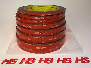Nastro Biadesivo forte 3M 5952F VHB  sp. 1,1mm altezza da 4mm a 19mm x3m tuning
