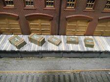 HO Roco Minitank Parts Custom Detailed Weathered 5 Ammunition Boxes #DP127