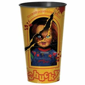 Child's Play Movie Chucky Evil Doll Halloween Party Favor 32 oz. Plastic Cup