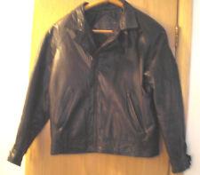 Mens GUESS Black Leather Jacket Medium