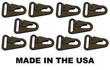 """x10 USA MADE HK H&K 1"""" Sling Clip Snap Hook Spring Gate COYOTE BROWN"""