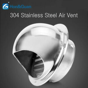"""Hon&Guan 4"""" 6"""" Thicken Stainless Steel Air Vent Duct Ventilation Vent Insect Net"""