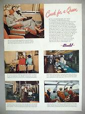 Budd Transportation Railroad Car PRINT AD - 1948 ~~ train, sleeper couch, Vista