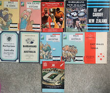 More details for a selection of 11 rugby union programmes played in cardiff