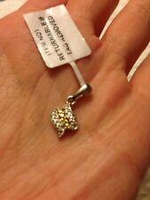 Designer Gems TV 925 sterling silver Yellow Diamond Gemstones pendant