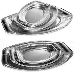 20 - 50 Alu Servierplatten oval Buffetplatten Partyplatte Aluschalen Catering