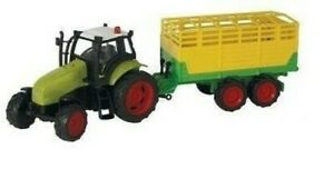 KID510653D - Tractor To Friction Green Claas With Cattle Trailer