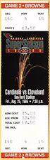 1995 ARIZONA CARDINALS vs CLEVELAND BROWNS Football Season Ticket complete full